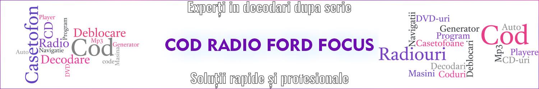 cod casetofon ford focus