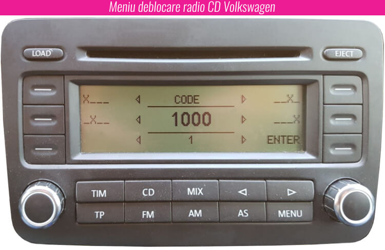 deblocarea unui radio VW Volkswagen